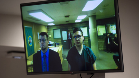 Murder suspect makes first appearance in court