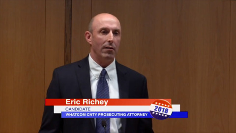 Eric Richey talks about his candidacy for Whatcom County Prosecuting Attorney