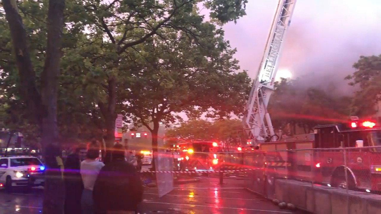 Three-alarm fire burns two landmark businesses in downtown Bellingham
