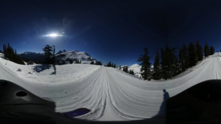 Get a 360-degree view of the downhill leg of the Ski to Sea Race