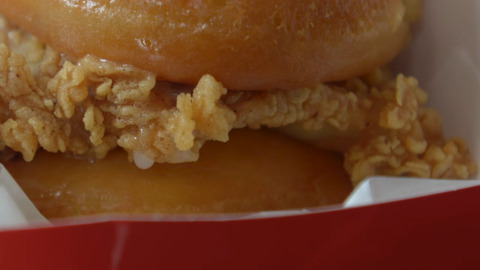 Take a look at KFC's new chicken and doughnuts sandwich