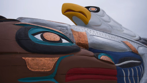 This totem pole is traveling 16,000 miles from the Lummi Nation this summer