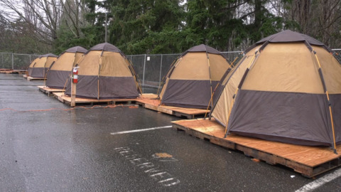 Bellingham's homeless tent community behind City Hall gets a new location in April