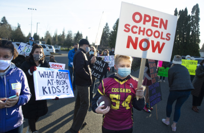 Parents and students rally to open schools