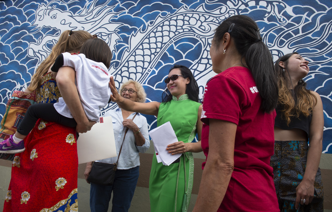 Dragon mural in downtown Olympia dedicated to early Chinese immigrants