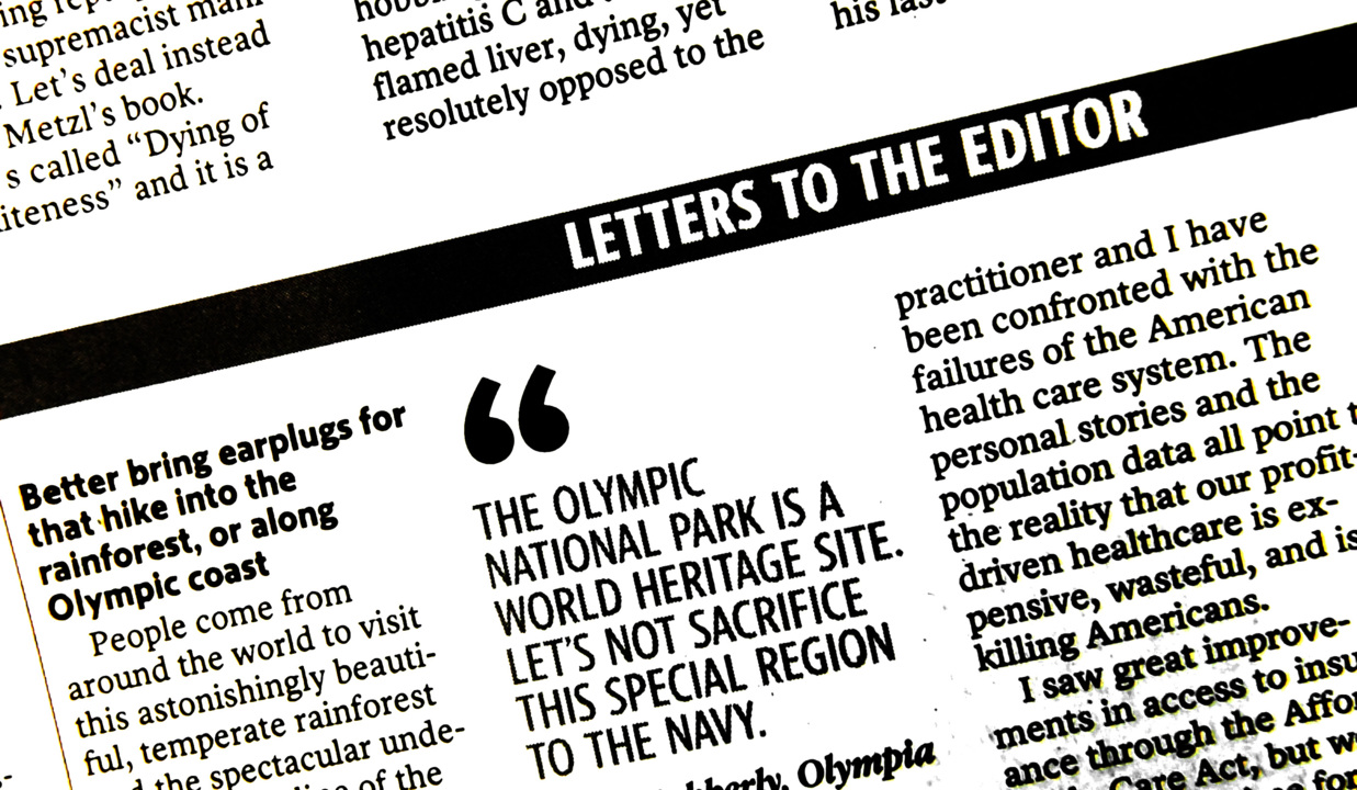 Letters to the editor for Oct. 17, 2019, in The Olympian