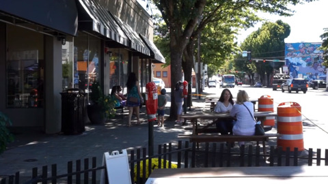 City of Olympia piloting expanded outdoor dining at 222 Market