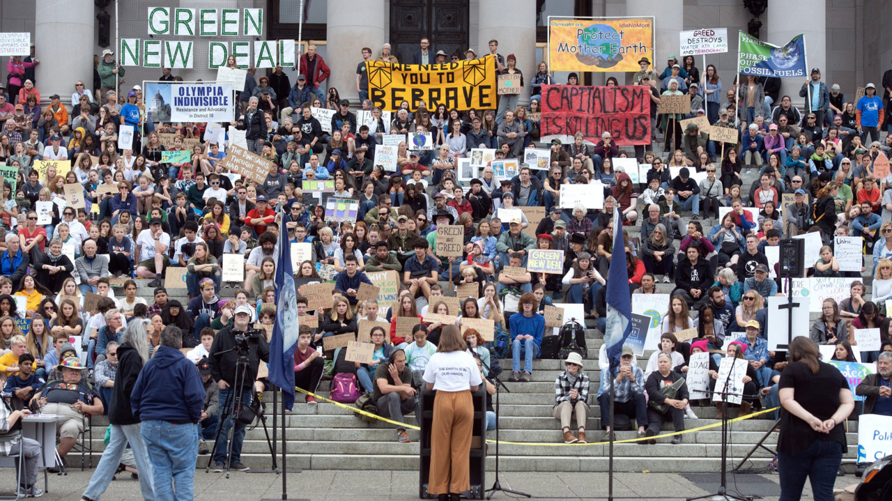 How to make ambitious climate goals a reality? 'Upend the status quo,' student activist says