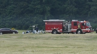 Two injured in helicopter crash at Olympia Airport in Tumwater