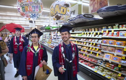 Can we get a commencement in Aisle 8? Tumwater grocery store honors graduating seniors
