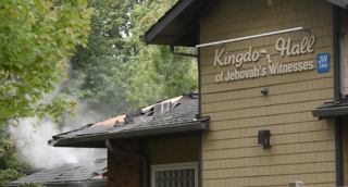 Olympia church destroyed overnight by fire labeled as suspicious