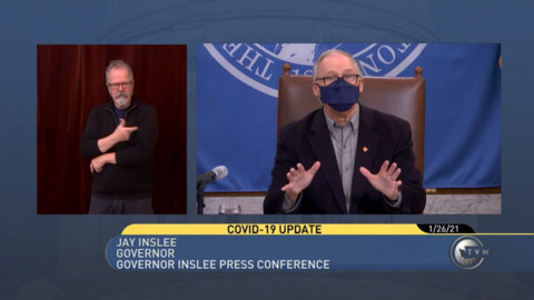 Watch: Washington state Gov. Jay Inslee gave a COVID-19 update on Tuesday (Jan. 26)