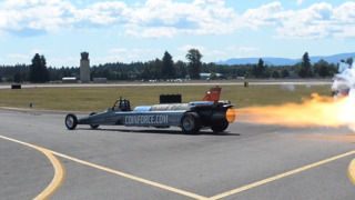 It may not fly, but the JetCar thrills with sound and speed