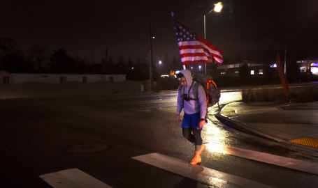 JBLM soldier rucks across Lacey, Olympia for charity Thanksgiving morning