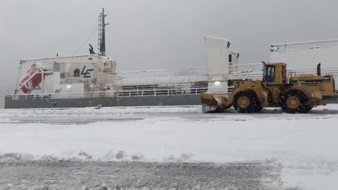 Despite snow, Port of Olympia still mooved 'em on out