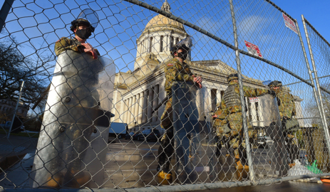 Olympia fence isn't Berlin Wall, but closing state Capitol sadly necessary - for now
