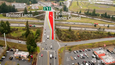 The state has a date: Marvin Road overpass lane reductions, detour begin Tuesday