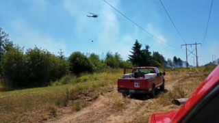 Crew responds to Rochester brush fire