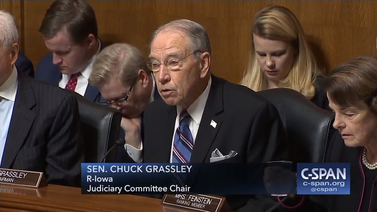 Image result for cartoon sen grassley