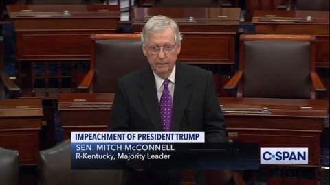 Setbacks and high stakes: Mitch McConnell delivers Trump, and himself, a victory