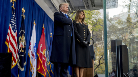 Trump pays tribute to veterans in New York speech