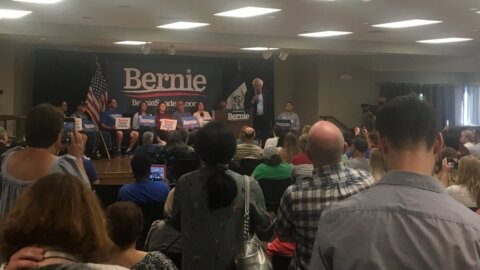 Bernie Sanders leaves Iowa town hall event