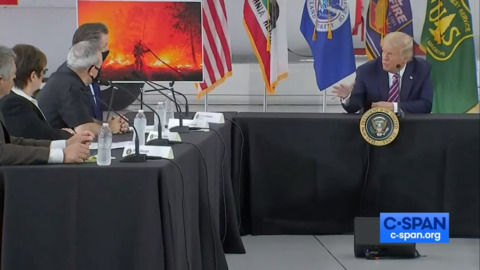 President Trump meets with California officials on wildfires