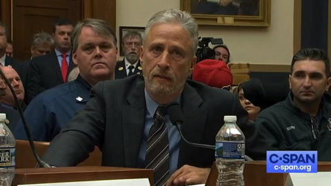 Under fire from Jon Stewart, Mitch McConnell tells 9/11 first responders he will help health bill