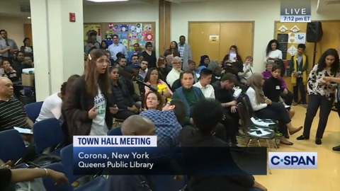 Woman's bizarre proposal at AOC town hall: 'We got to start eating babies'
