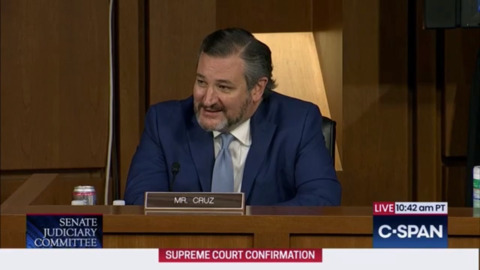 Senators Ted Cruz and Amy Klobuchar clash at Barrett hearing