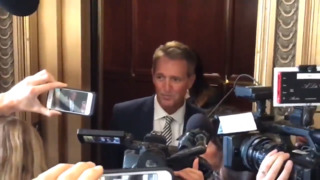 Sexual assault survivors confront Sen. Jeff Flake after he says he will support Kavanaugh