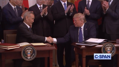 Trump announces trip to China after signing new trade agreement
