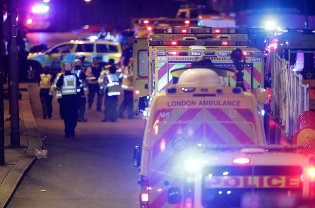 At least 20 injured, one dead in London after van and knife 'terrorist incidents'