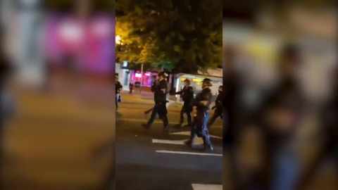 Demonstrators clash with police during Breonna Taylor protests in Washington