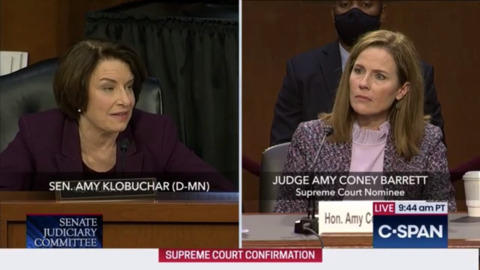 Judge Amy Coney Barrett responds to concerns over her work for Republicans in Bush v Gore