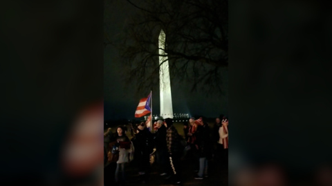 Trump supporters gather in Washington before Congress's election results certification