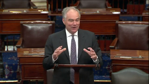 'This is a good day': 2016 VP candidate Tim Kaine says of Harris' selection