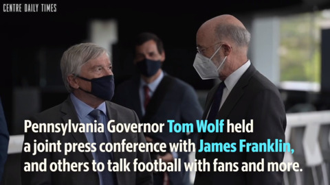 Gov. Tom Wolf and James Franklin discuss fans getting back in the stands for Penn State Football games