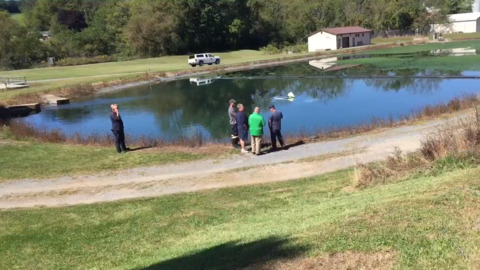 Woman rescued by good Samaritans after crash into retention pond at Pleasant Gap Fish Hatchery