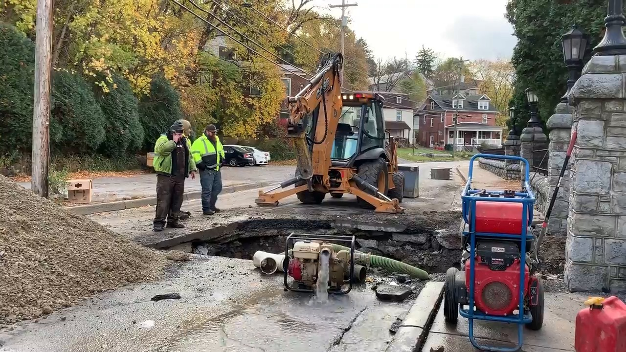 Water main break led to hourslong closure of Bellefonte street