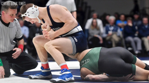 Nolf entertains crowd with new move and pin