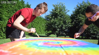 Tie-dye tables to help create community