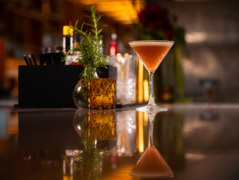 A golden twist on a classic cocktail
