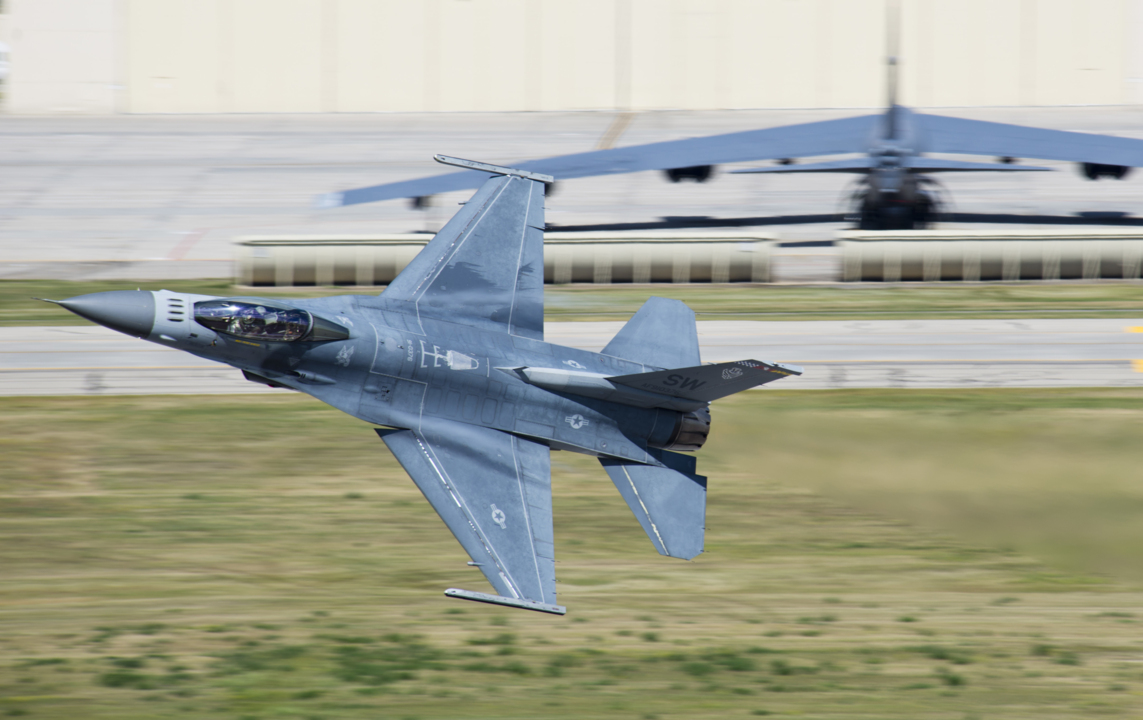 Military Jets Including F-16 Fighting Falcon Returning To
