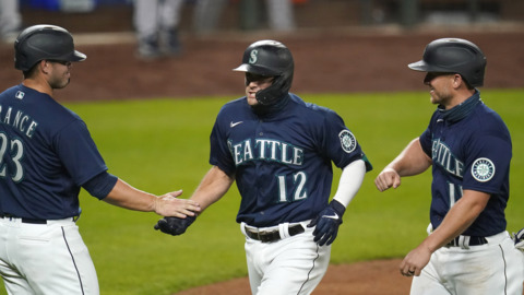 Mariners rookie Evan White recaps 3-run homer against Astros