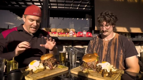 Monster burger challenge at Milton restaurant proves no match for professional eater