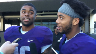 Who is the faster tailback? Myles Gaskin and Salvon Ahmed have different ideas