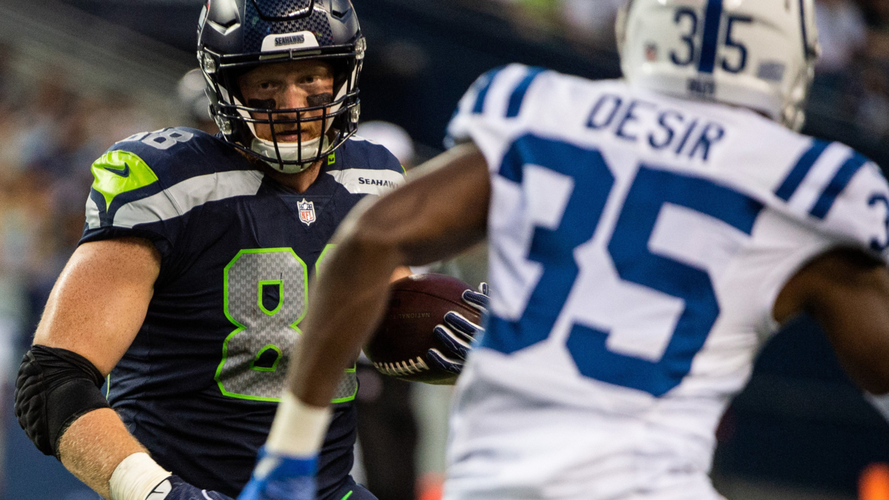 huge discount 184ff d9d0b Seahawks rookie TE Will Dissly happy to stay in Seattle ...