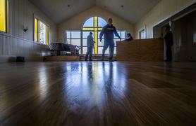 Renovation of Fox Island Chapel shows off shiny new floors, treasures from the past