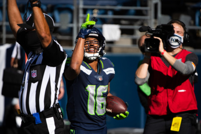 Tyler Lockett after his career-high three TD catches from Russell Wilson in Seahawks' rally to beat the Dallas Cowboys